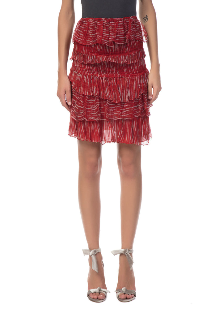 IRO - Canwood Red Mini Skirt