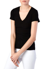 James Perse - Casual Black Tee w/ Reverse Binding