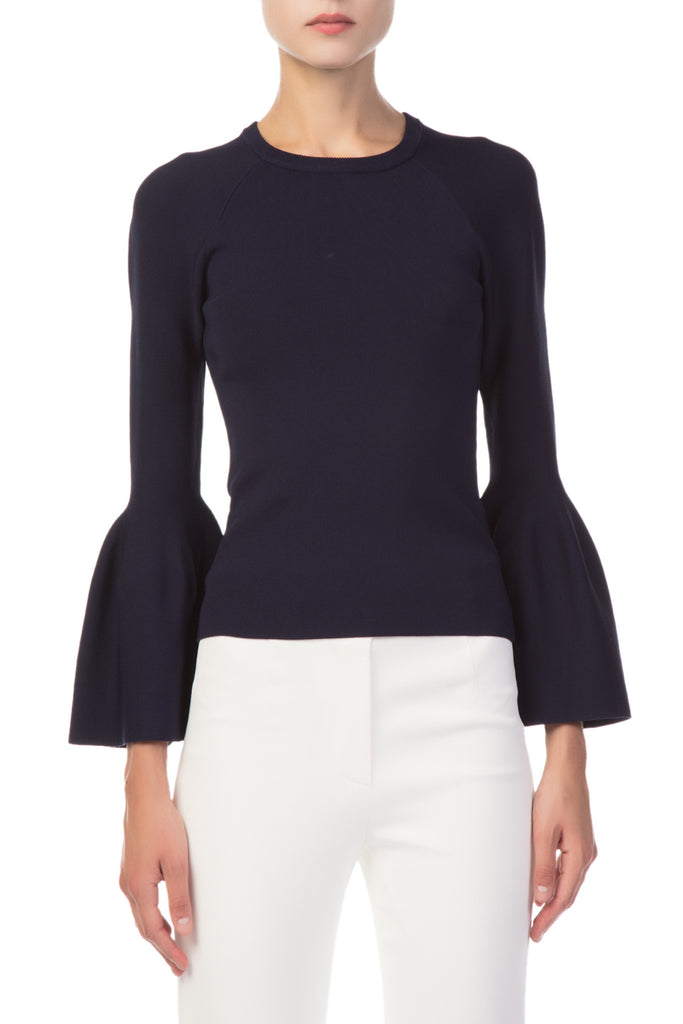 Jonathan Simkhai - Signature Knit Bell Sleeve Sweater