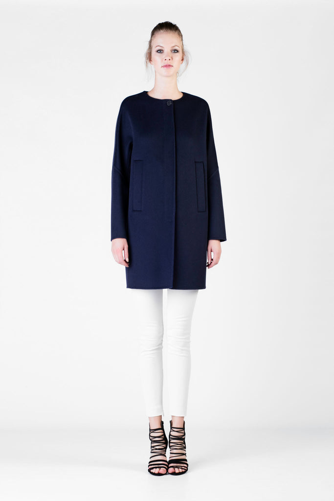 Loro Piana - Blue Cashmere Coat