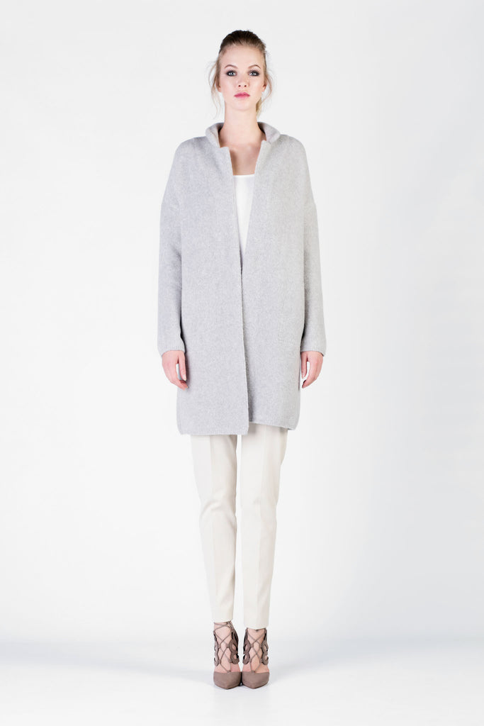 Loro Piana - Grey Cashmere and Silk Coat