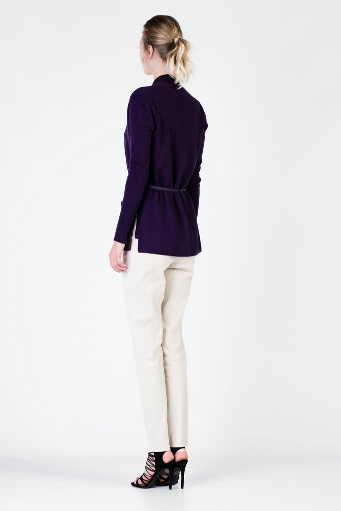 Loro Piana - Purple Twin Set Cardigan and Vest