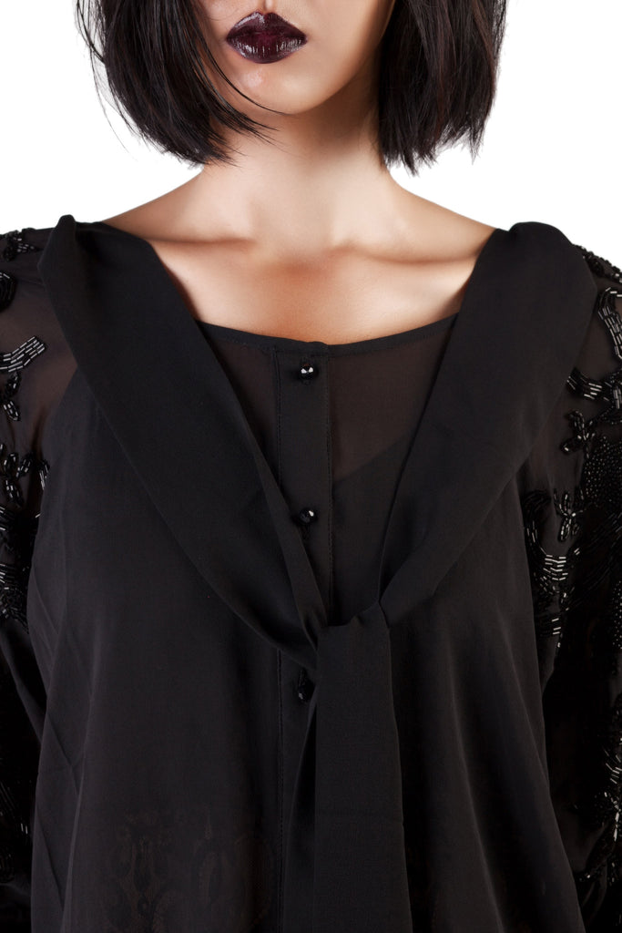 Loyd/Ford - Black Embroidery Top