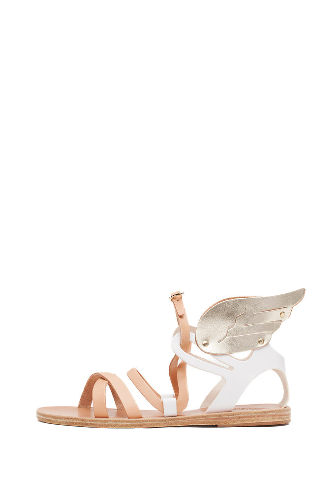 Ancient Greek Sandals - Nephele Nude and Gold Sandals
