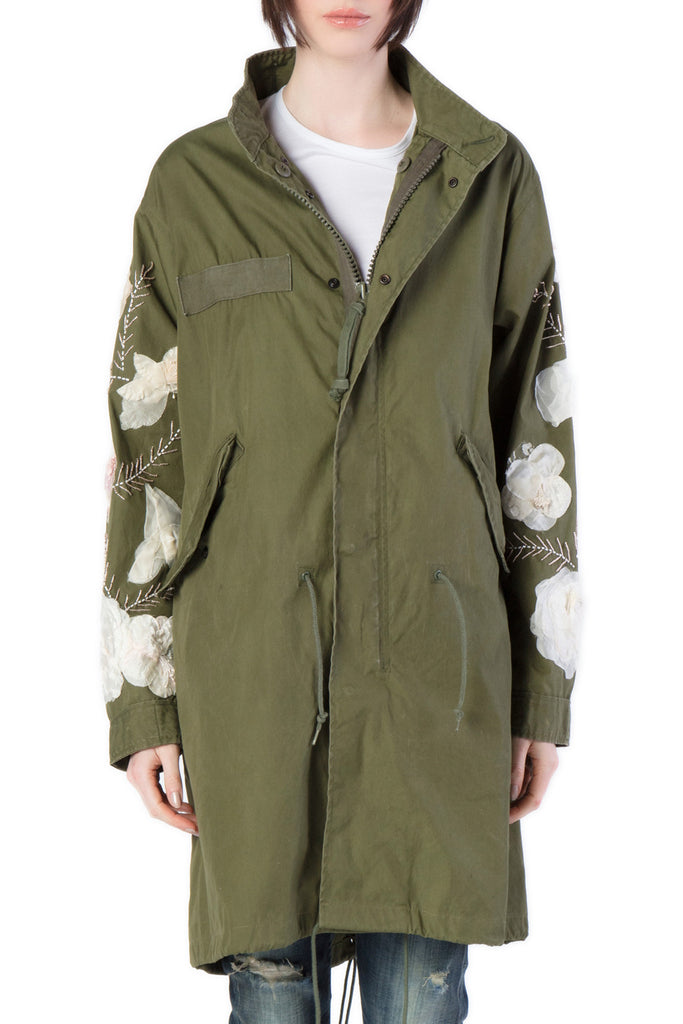 NIGHTMARKET - Military Green Coat