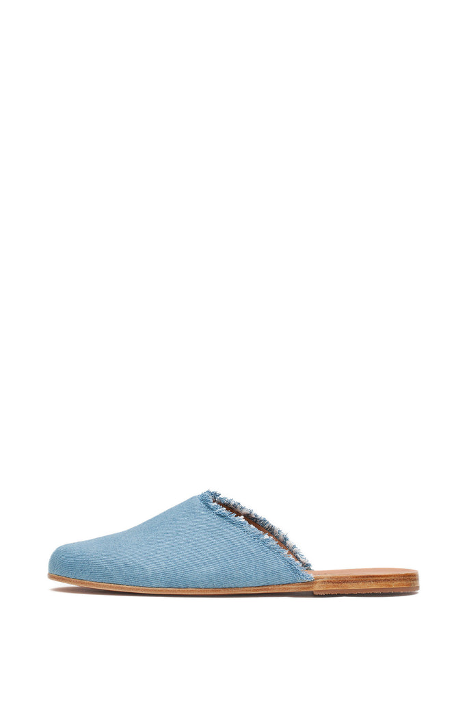 Ancient Greek Sandals - Pasoumi Light Denim Mules