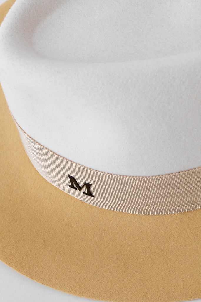Maison Michel - Two-Tone Natural Colour Hat