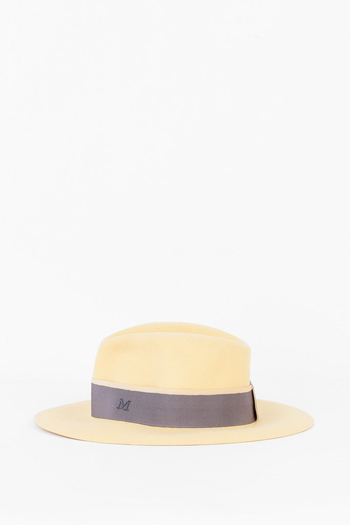 Maison Michel - Natural Ribboned Hat