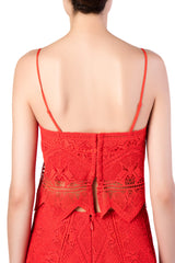 Jonathan Simkhai - Red Appliqué Bustier Top