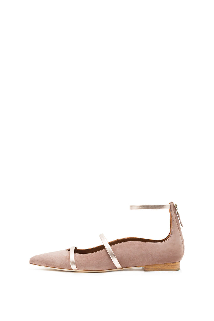 Malone Souliers - Nude and Rose Gold Robyn Flats