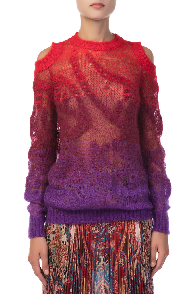 Roberto Cavalli - Knitted Red and Purple Pull