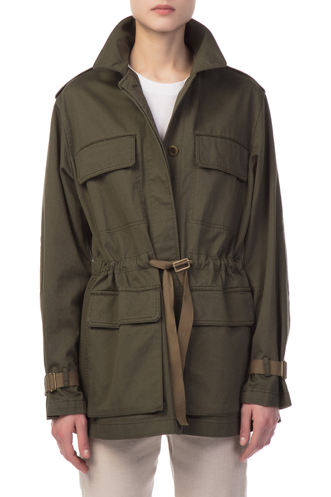 Theory - Patched Military Green Parka
