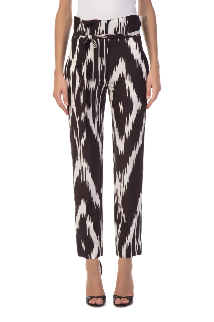 Theory - Interlace Black and White Pants