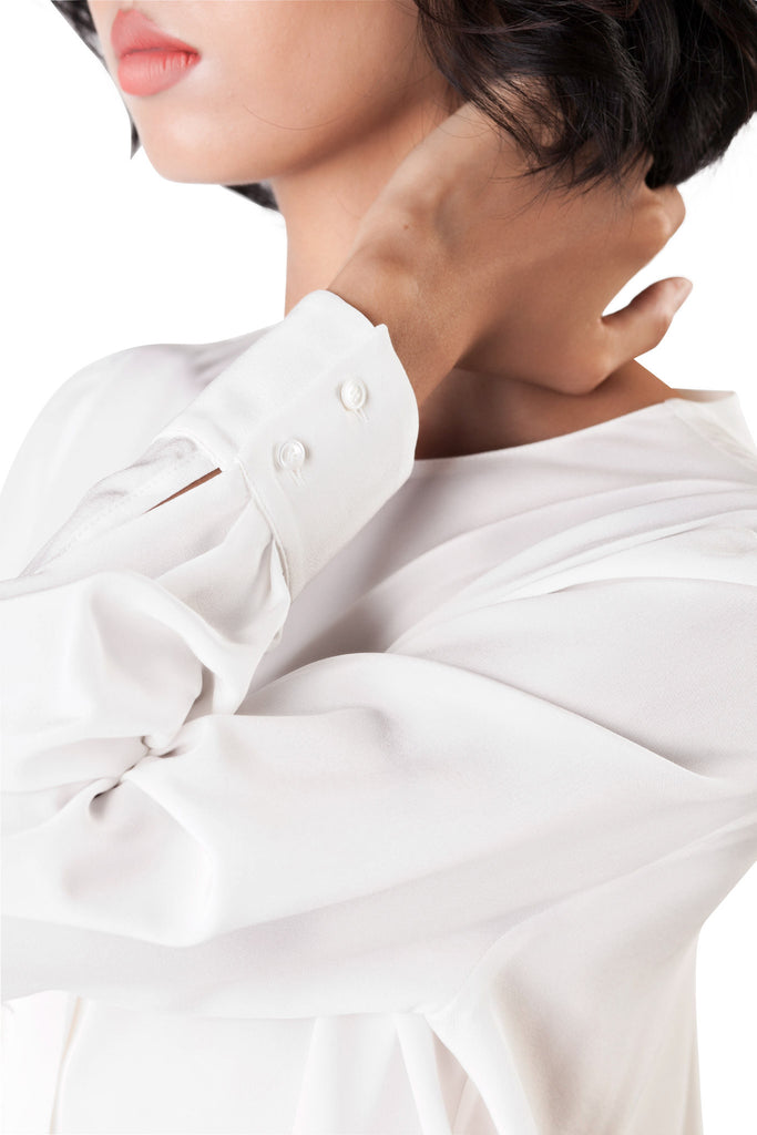 Agnona - White Silk Shirt