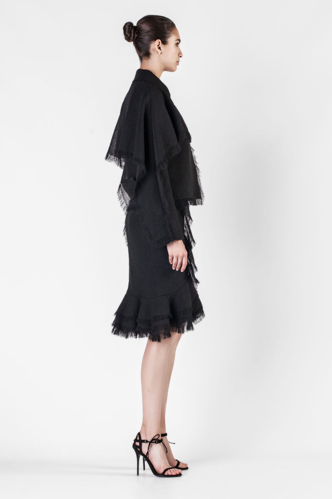 Jason Wu - Gauze Textured Black Jacket