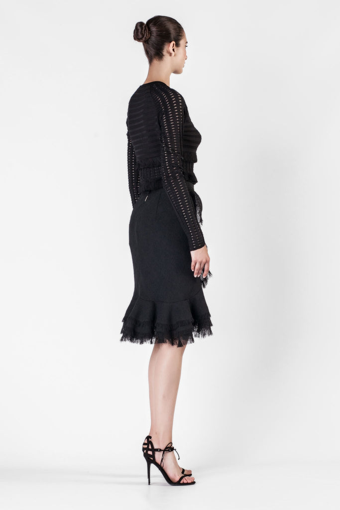Jason Wu - Gauze Textured Black Skirt