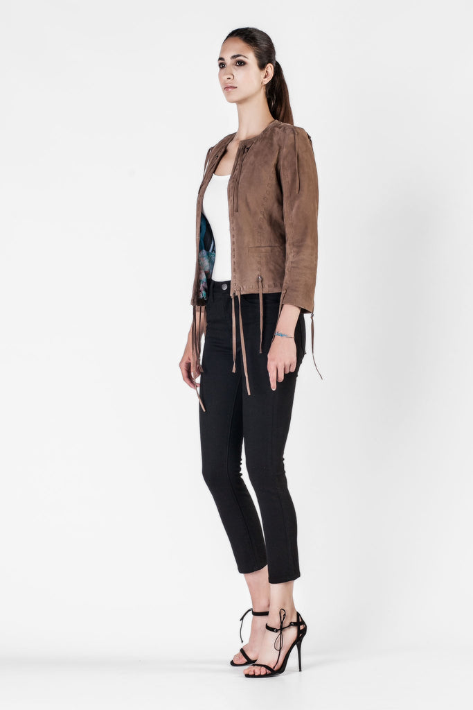 S.W.O.R.D - Fringed Brown Suede Jacket