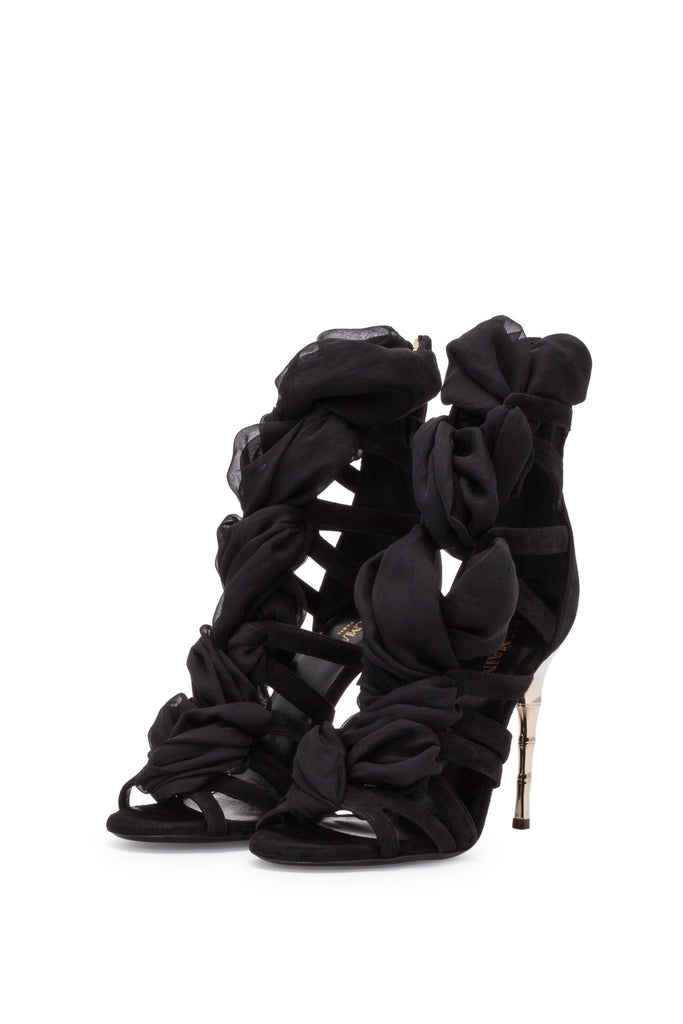 Balmain - Black Suede Sandals