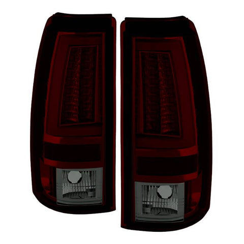 Chevy Silverado 1500/2500 99-02 (Not Fit Stepside) / GMC Sierra 1500/2500/3500 99-06 and 2007 Sierra Classic Version 2 LED Tail Lights - Smoke