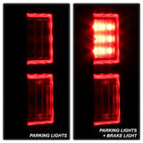 Ford F150 2015-2017 Light Bar LED Tail Lights (not compatible with rear blind spot sensor models) - Red Clear