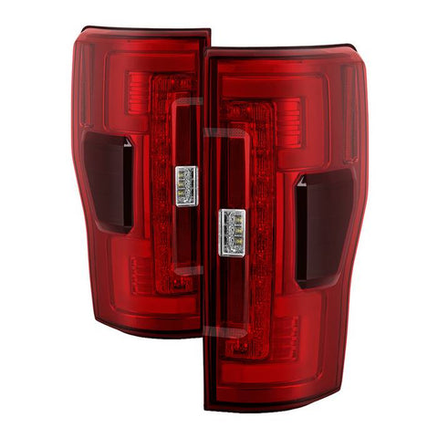 ( Spyder ) Ford F250 Superduty 17-18 Blind Spot Monitoring Model ( LED Model Only Does not fit Halogen Model ) LED Tail Lights - Black