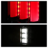 Jeep Wrangler (JK JKU) 07-18 Version 2 Light Bar Sequential Turn Signal LED Tail Lights - Red Clear