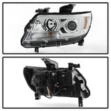 ( Spyder ) Chevy Colorado 15-19 Projector Headlights - Light Bar LED - Black