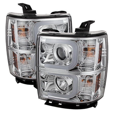 Ford Expedition 07-13 Projector Headlights - Light Tube DRL - Black - High H1 (Included) - Low H1 (Included)