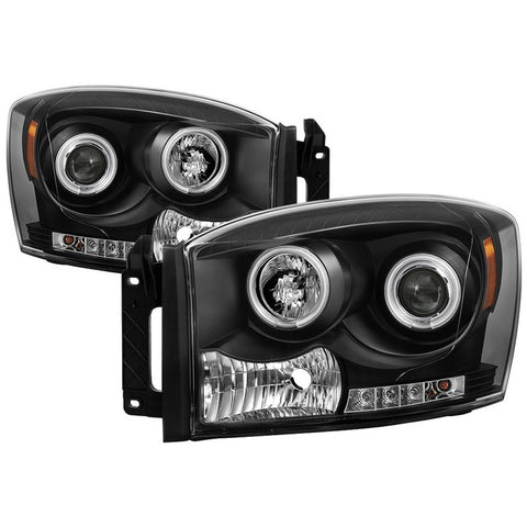 Halo CCFL Projector Headlights 2006-2009 Dodge Ram Spyder Automotive 5030061