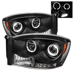 Halo LED Projector Headlights 2006-2009 Dodge Ram Spyder Automotive 5010001
