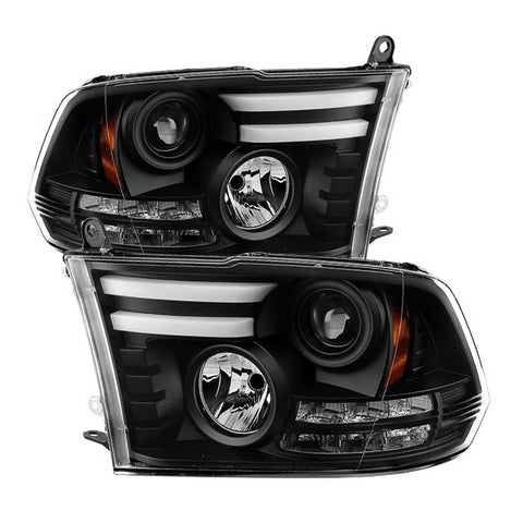 Mercedes Benz C-Class 01-05 4 Dr Only Projector Headlights - Halogen Model Only ( Not Compatible With Xenon/HID Model ) - CCFL Halo - Chrome - High H1 (Included) - Low H7 (Included)