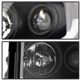 Ford Expedition 07-13 Projector Headlights - Light Tube DRL - Chrome - High H1 (Included) - Low H1 (Included)