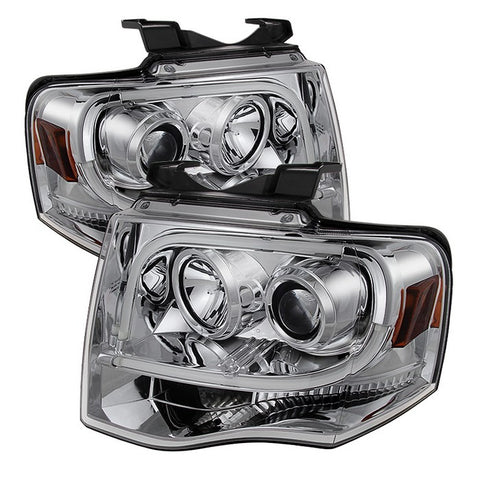 Honda Civic 06-08 2Dr Projector Headlights - CCFL Halo - Black - High H1 (Included) - Low H1 (Included)