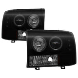 Ford Mustang 99-04 Projector Headlights - LED Halo - Black Smoke - High H1 (Included) - Low H1 (Included)