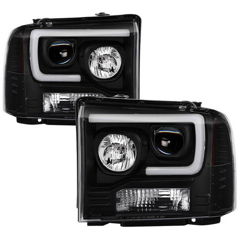 Toyota Tacoma 05-11 Version 2 Projector Headlights - Light Bar DRL - Black