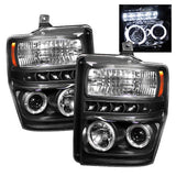 Halo LED Projector Headlights 2008-2010 Ford F250/F350/F450 Super Duty Spyder Automotive 5010575