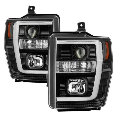 Ford F150 04-08 Light Bar Projector Headlights - Black