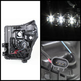 Ford F-250/F-350/F450 Super Duty 11-16 Projector Headlights - CCFL Halo - DRL - Black - High H1 (Included) - Low 9006 (included)