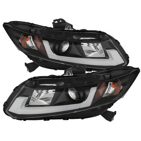 Honda Civic 96-00 2Dr Crystal Tail Lights - Red Smoke