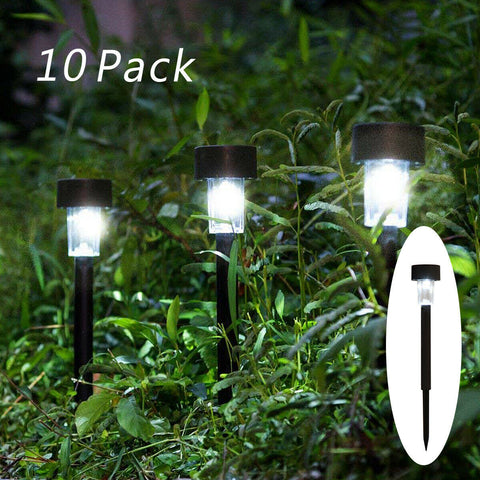 10 PCS Solar Powered Path Light for Driveway, Lawn, Yard, Garden, Patio (Lamp, Spot Lamp, Night) - Exotic Blings