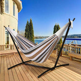 NEW Hammock with Steel Stand (includes Portable Carry Bag) Easy Storage, Space Saving, Easy Setup - Exotic Blings