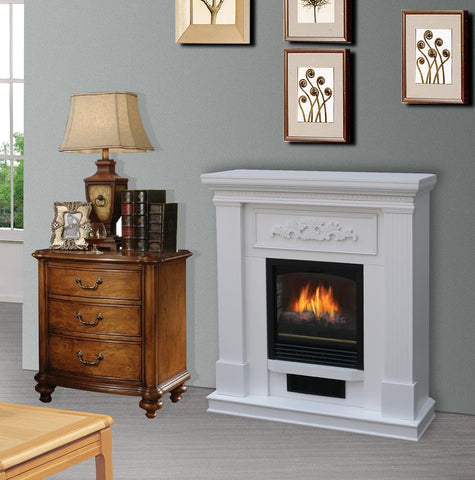 Bold Flame Wall/Corner Electric Fireplace White (38 inch)