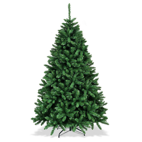 6ft Unlit Hinged Artificial Christmas Tree Full Fir Tree with 1355 Tips (Free Shipping) T135