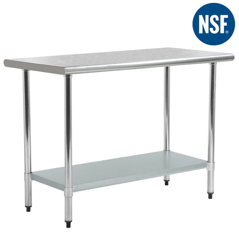 "Premium Stainless Steel Kitchen Work Table (Commercial, Kitchen, Restaurant, Table, Size 30"" x 60"") - Exotic Blings"