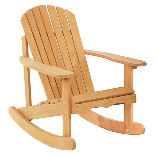 NEW Garden Rocking Wooden Chair (Lawn, Furniture, Seat, Deck, Porch, Patio, Rest, Relax, Durable) - Exotic Blings