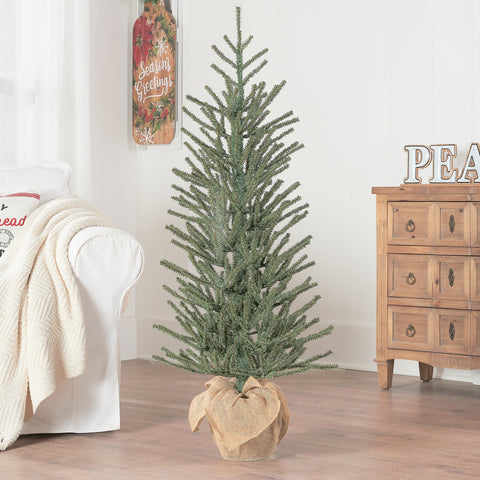 "Exotic Green 48"" Fir Tree with Burlap Base Christmas Decoration (High Quality) T145"