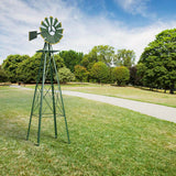 8 FT Tall Garden Windmill with Rotating Wheels (All Weather, Garden, Lawn, Patio, Backyard, Decor) - Exotic Blings