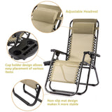 NEW 2 PCS Folding Recliner Chair with Cup holder for Garden, Patio, Deck, Porch, Backyard, Outdoor - Exotic Blings