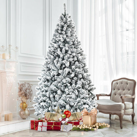 Premium Unlit Snow Flocked 7.5ft Artificial Christmas Tree (High Quality, Free Shipping) T134