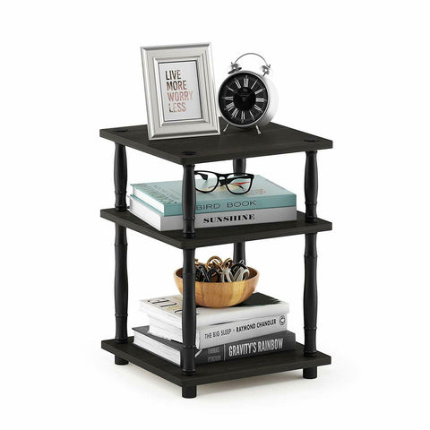 Black Wood Turn-N-Tube Multipurpose Shelf